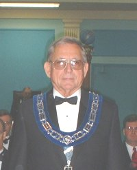 Frank E. Dedman - Sr. Warden of St. James Lodge #47 in 2003