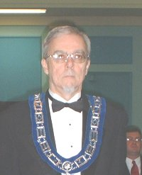 Lawrence D. Wade - Worshipful Master of St. James Lodge #47 in 2003