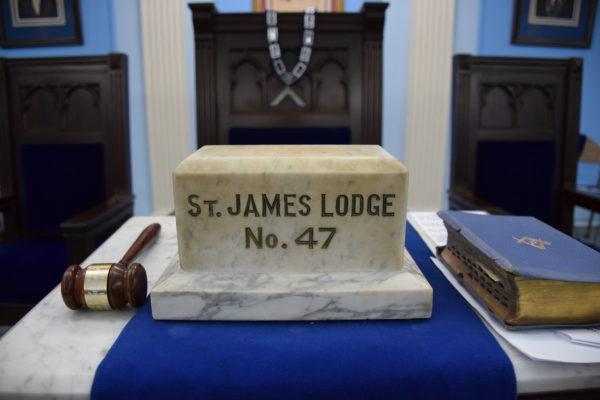 St. James Masonic Lodge, Worshipful Masters Seat